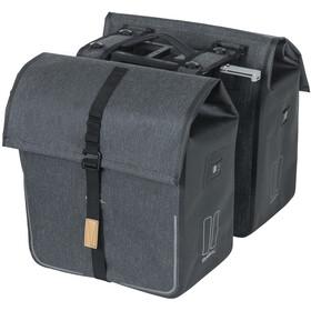 Basil Urban Dry Double Pannier Bag MIK 50l, charcoal melee